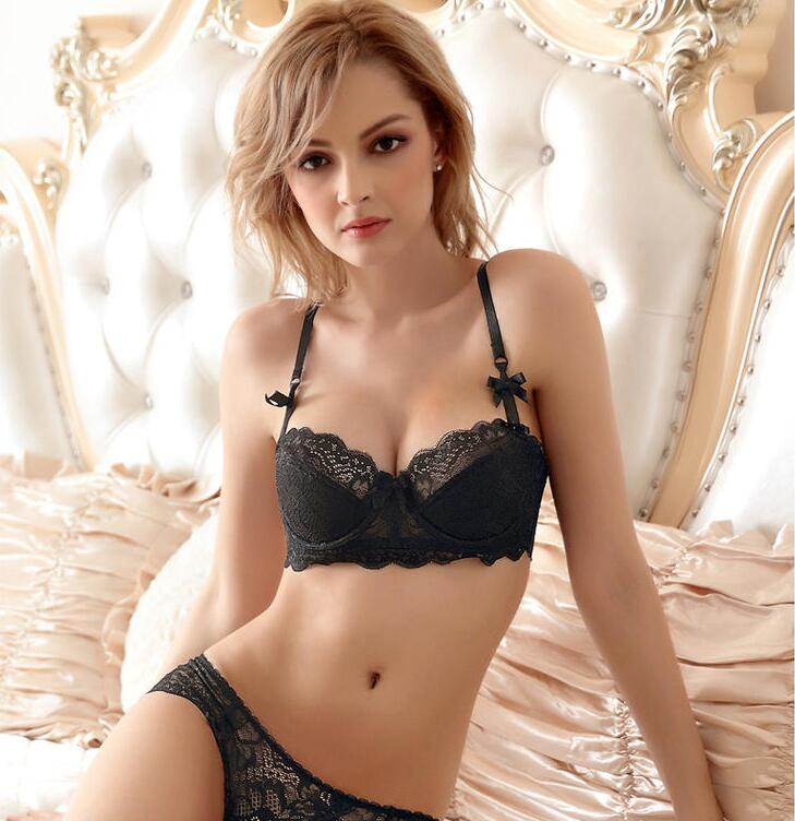 Sheer Push-Up Lace Fringe Lingerie Set