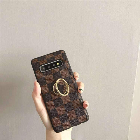 Contracted Grid Phone Case for Samsung with Phone Holder gallery 2