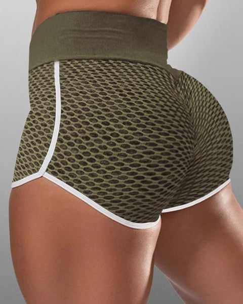 Contrast Binding Textured Sports Shorts gallery 4