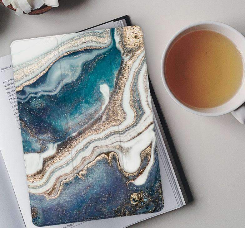Elegant Marble Texture Apple iPad Cover Case