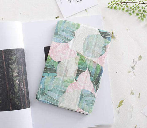 Fresh Leaves Painted Apple iPad Cover Case gallery 2