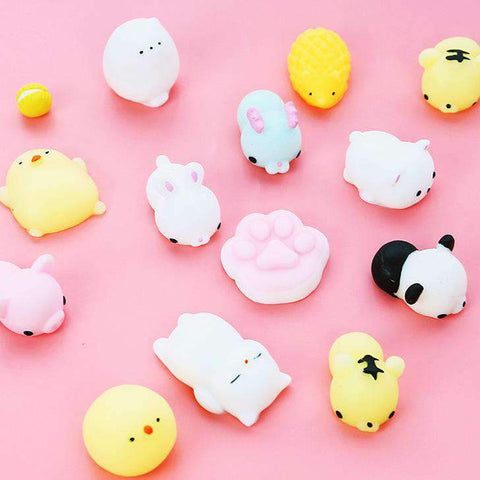 15Pcs Cute Soft Stress Relief Animals Squishy Toys gallery 2