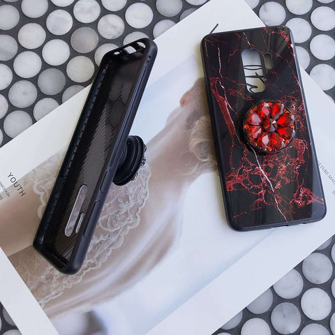 Luxury Marble Pattern Phone Case for Samsung with Phone Holder gallery 5