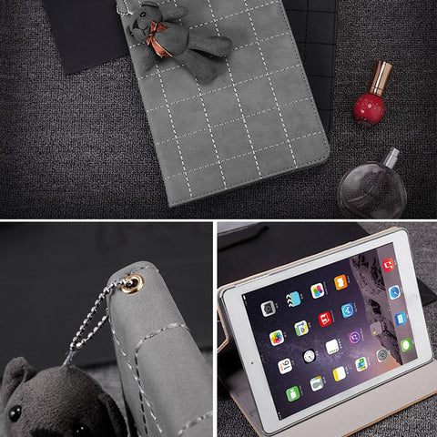 Knitted Grain Foldable iPad Cover Case (Without Furry Bear ) gallery 4