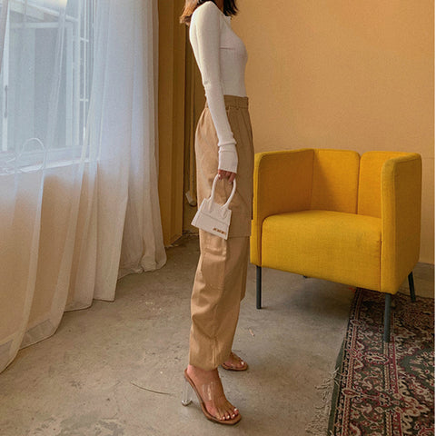 High Waist Straight Leg Cargo Trousers gallery 2