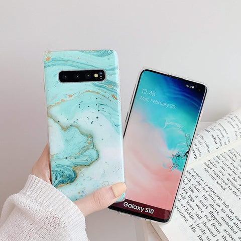 Matte Pebbled Marble Phone Case for Samsung gallery 5