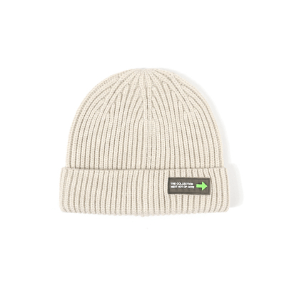 6 Colors Rib Knit Cuffed Beanie Hat With Tag gallery 10