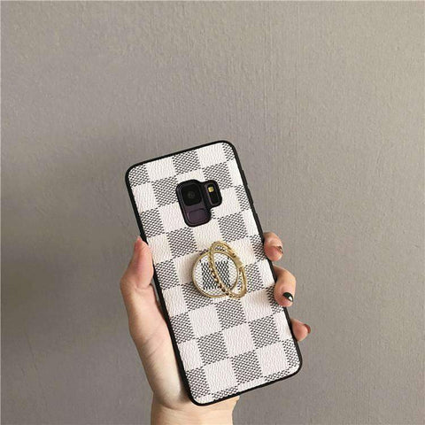 Contracted Grid Phone Case for Samsung with Phone Holder gallery 4