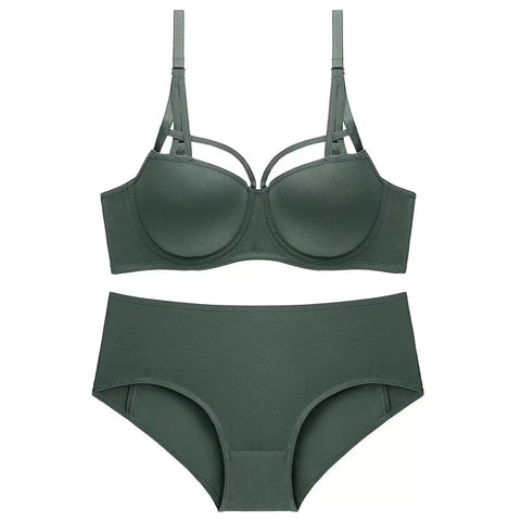 Sexy Elegant Solid Color Lingerie Set