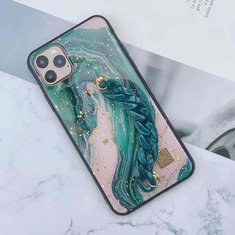 Ocean Marble Design iPhone Case with Wrist Strap