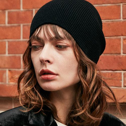 10 Colors Solid Rib Knit Beanie gallery 2