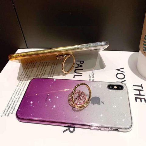 Shining Clear Transparent Phone Case for Samsung with Phone Holder gallery 6