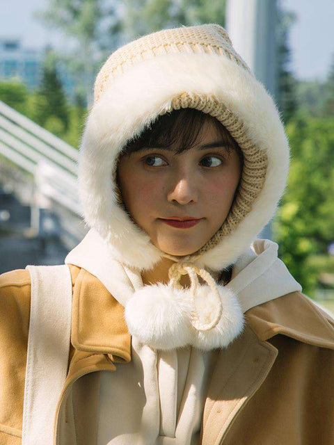 Women's Winter Cute Thick Conical Ear hat gallery 2