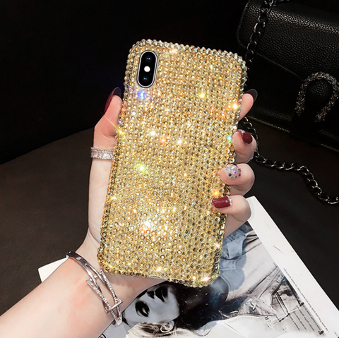 Luxury All-Over Diamante Stud Phone Case for Samsung gallery 4