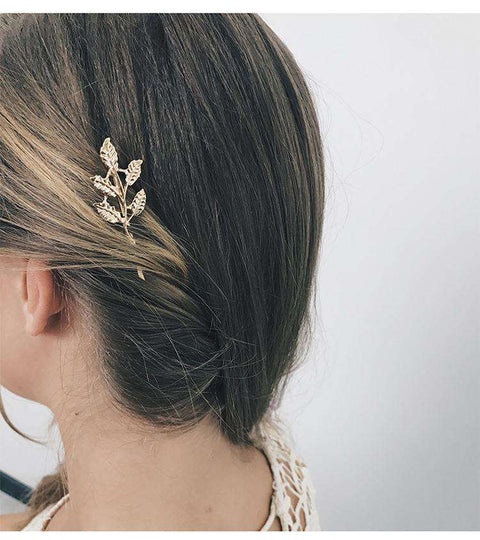Gold Simple Flower Hair Pin gallery 14