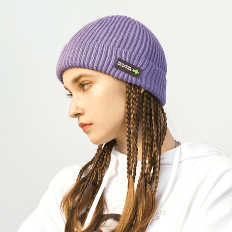 6 Colors Rib Knit Cuffed Beanie Hat With Tag gallery 2