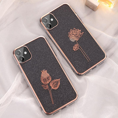 Cute Electroplate Floral/Letter Pattern Phone Case for Samsung gallery 1