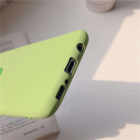 Silicone Solid Candy Color Heart Pattern Samsung Case gallery 5