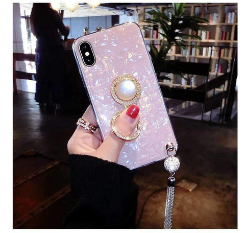 Elegant Shell Glittering Phone Case for Samsung with Shining Phone Holder gallery 7