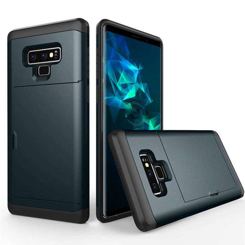 Samsung Galaxy Note 9 Pure Color Creative Phone Case With Card Holder gallery 3