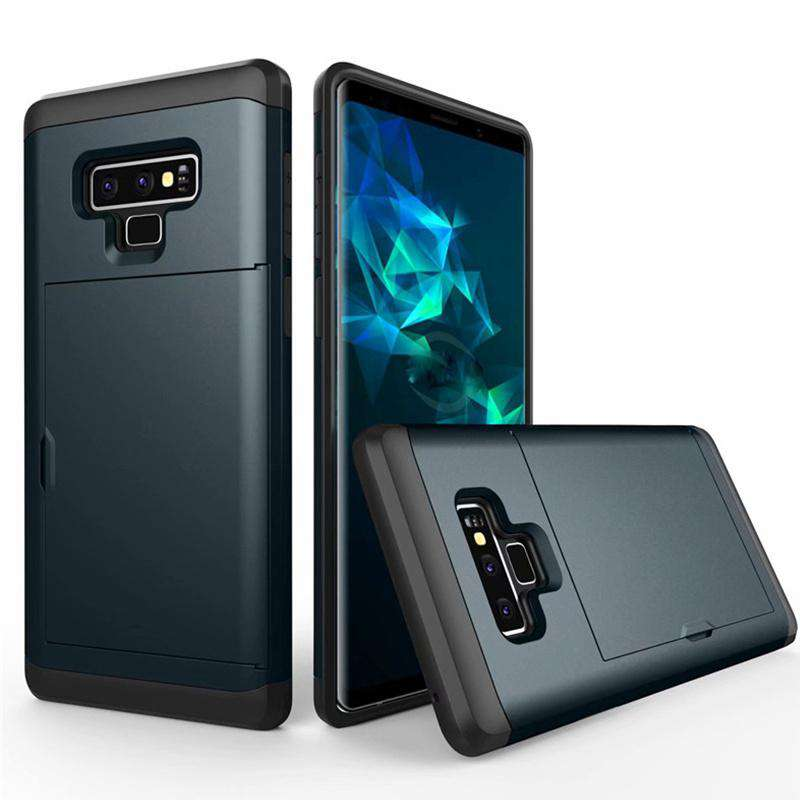 Samsung Galaxy Note 9 Pure Color Creative Phone Case With Card Holder