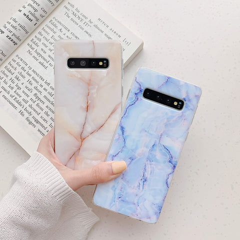 Matte Pebbled Marble Phone Case for Samsung gallery 1