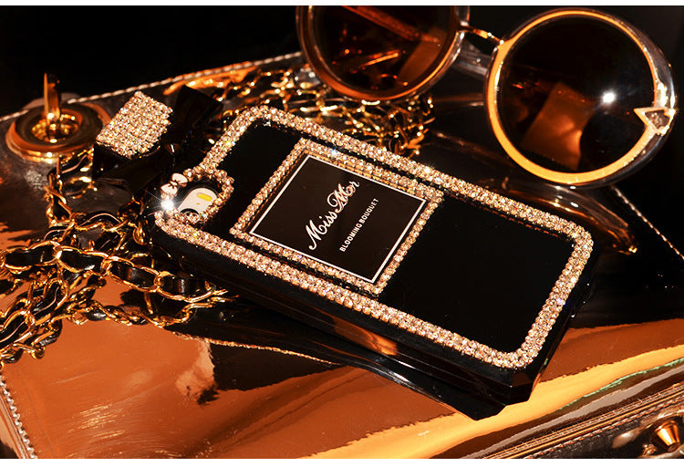 Luxury Perfume Design Phone Case for Samsung with Hand Strap