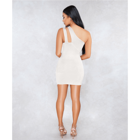 Sexy One Shoulder Bust Cut Out Bodycon Dress gallery 7
