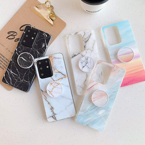 Smooth Marble Crack Detail Phone Case with Phone Holder gallery 5