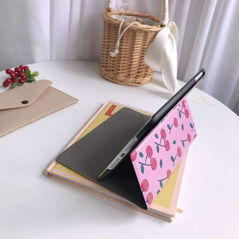 Contracted Fresh Cherry Painted Apple iPad Cover Case gallery 3