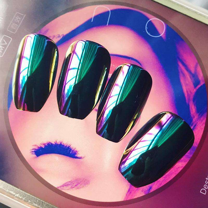 Laser Mirror-Silver Magic Press On Nail Manicure