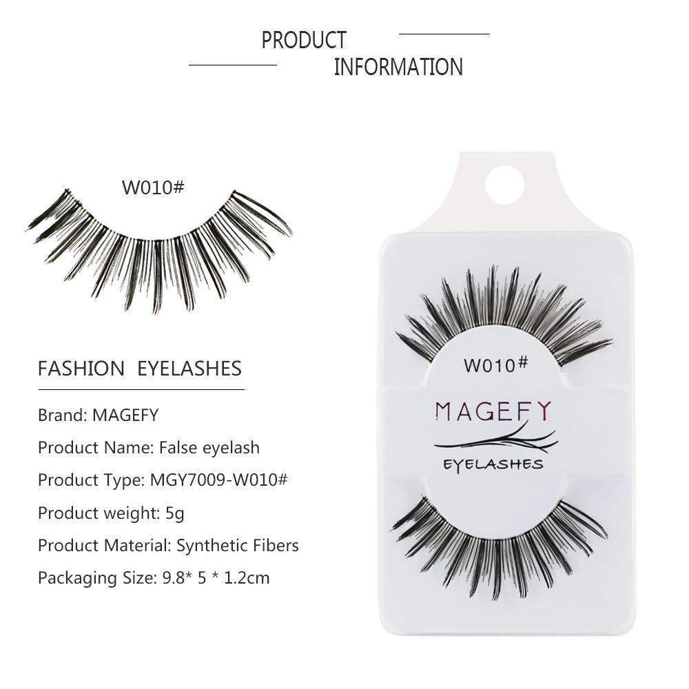 Chic Nude Makeup Look Natural False Eyelashes 3 Pairs