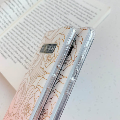 Floral Pattern Marble Phone Case for Samsung gallery 7