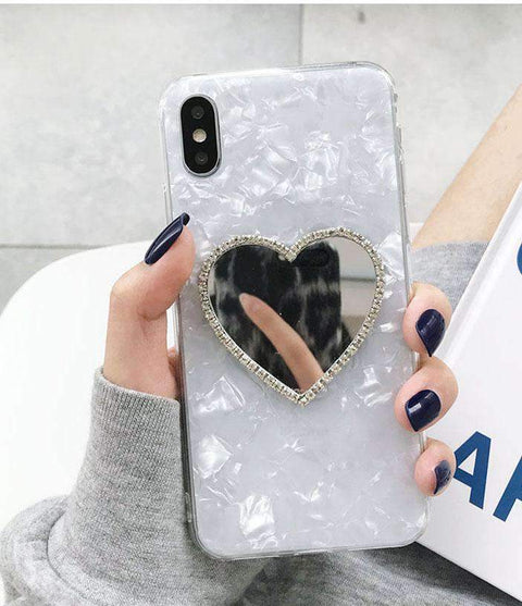 Classic Shell Pattern Samsung Case with Heart Designed Mirror gallery 2