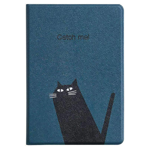 Cute Black Cat Painted Apple iPad Cover Case gallery 2