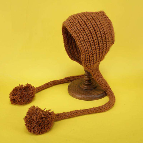 Hand-made Cute Warm Knitted Woolen Ear Hat with Long Braid gallery 10