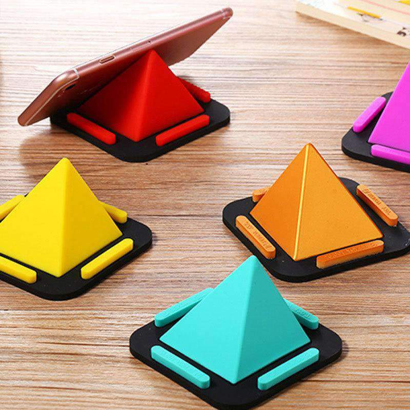 Creative Pyramid Multi-functional Mobile Phone Support Bracket