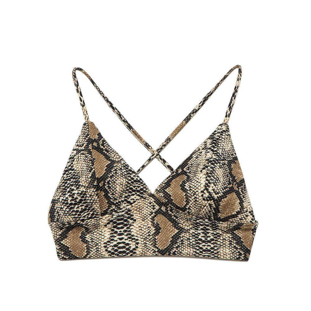 Snakeskin Print Backless Cami Top