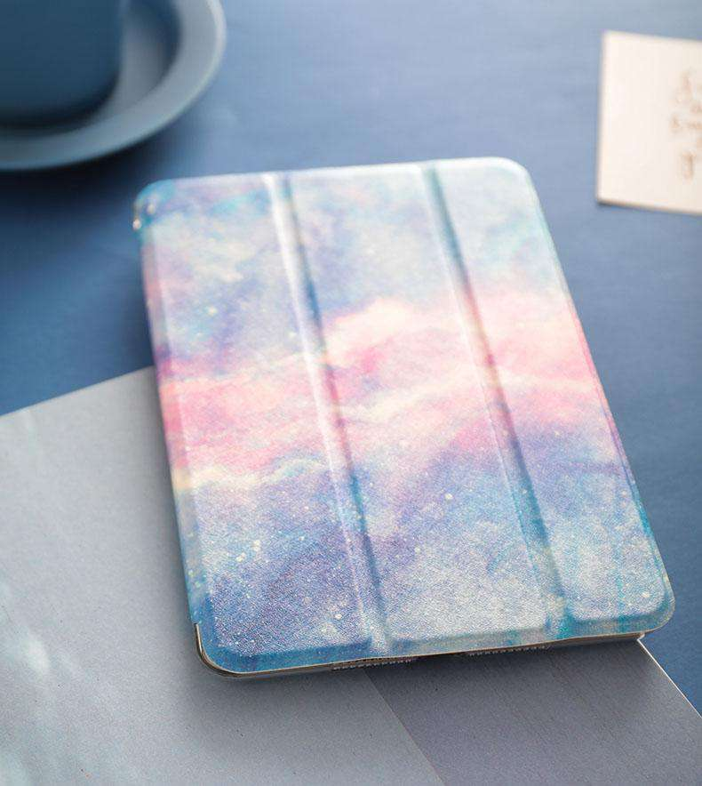 Literary Romantic Starry Sky Painted Apple iPad Cover Case