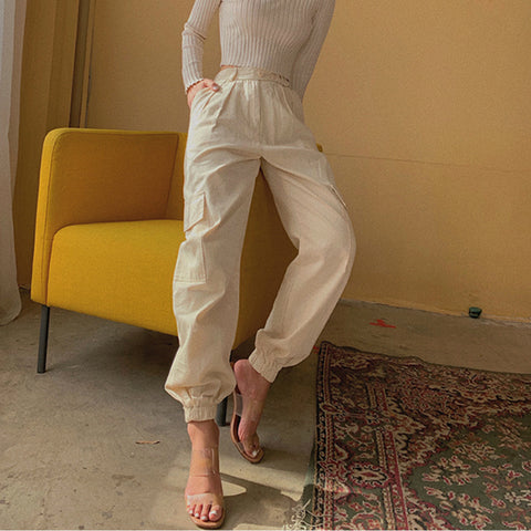 High Waist Straight Leg Cargo Trousers gallery 5