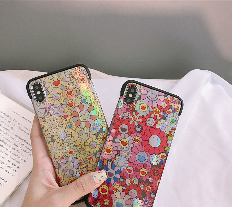 Hard Laser Floral Print Phone Cases For All Iphone-Iphone7