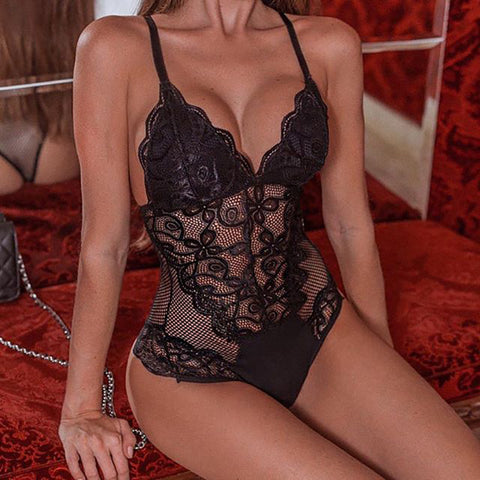 Sexy V Plunge Criss Cross Teddy