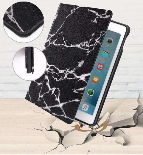 Vintage Marble Texture Stand Flip Tablet Case Cover for Apple iPad gallery 4