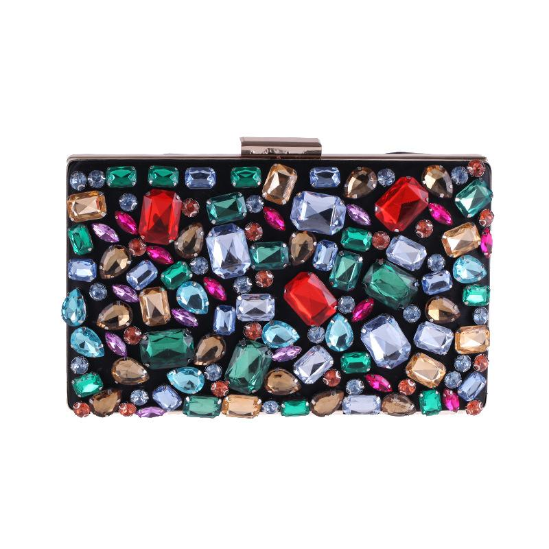 Extravagant Colorful Rhinestone Evening Bag Clutch Purses