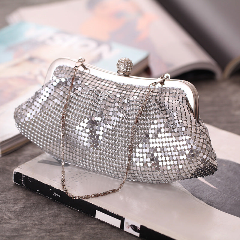 Glitter Soft Surface Evening Bag Clutch Purses
