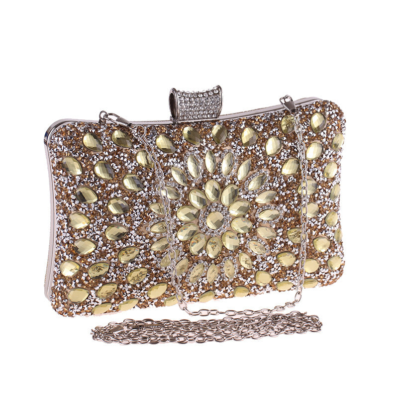 Rhinestone Glitter Evening Bag Clutch Purses