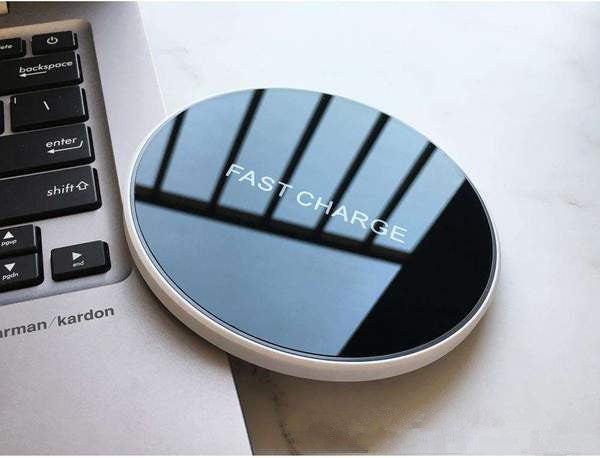 Ultra-thin Wireless Charger with Tempered Glass Mirror