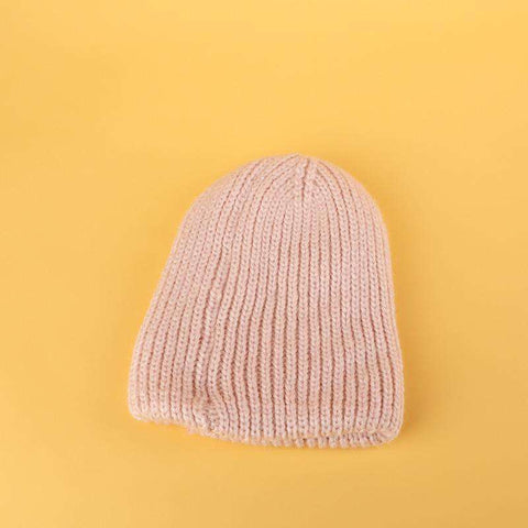 Candy Color Hand-knitted Simple and Thickened Hat gallery 6