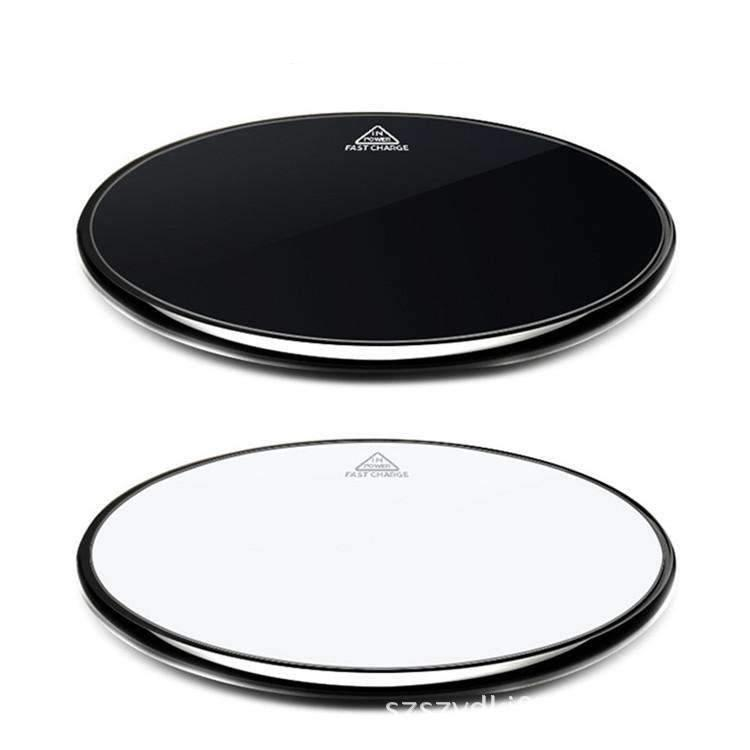 Black & White Intelligent Fast Wireless Charger Compatible with Smart Phones