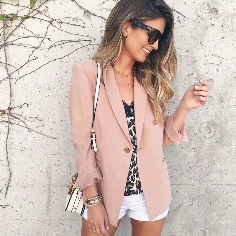 Pale Pink One Cutton Crepe Blazer